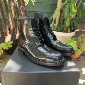 Men's Saint Laurent brogue boots